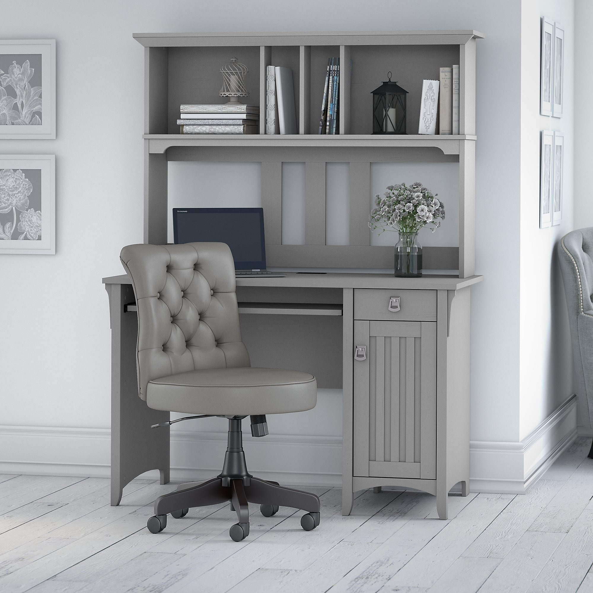 The Gray Barn Hickory Place Computer Desk With Hutch And Office Chair