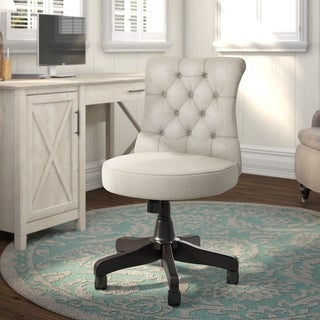 "The Gray Barn Hickory Place Mid-back Tufted Office Chair - 22.05""L x 25.79""W x 33.66""H"