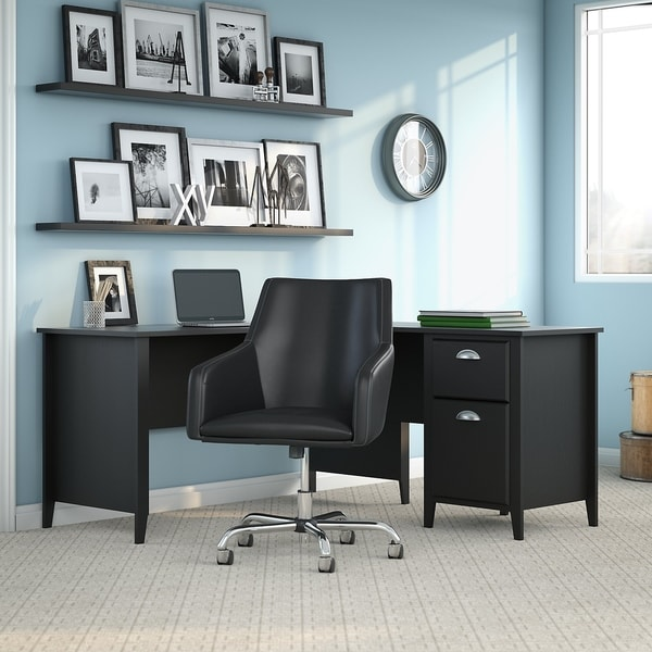 Shop Connecticut 60W L Desk, Chair From Kathy Ireland Home