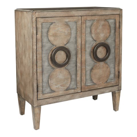 OSP Home Furnishings INSPIRED by Bassett Richmond Storage Cabinet with Natural Ash Finish