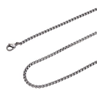 Stainless Steel 24 Inch 3 0mm Rolo Chain Necklace