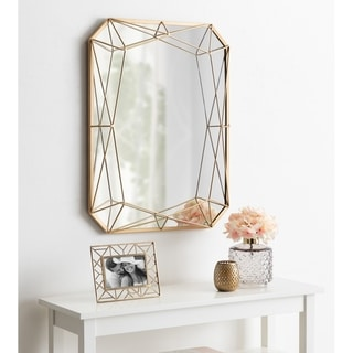 Kate and Laurel Keyleigh Metal 22-inch x 28-inch Rectangle Accent Wall Mirror
