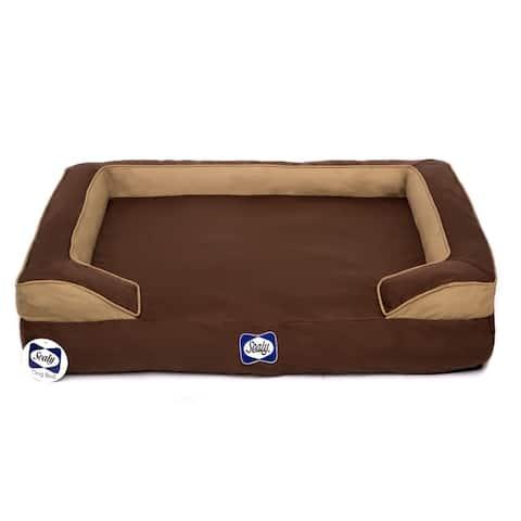 Sealy Dog Bed Cushy Cuddler Crushed Memory and Orthopedic Foam Dog Bed