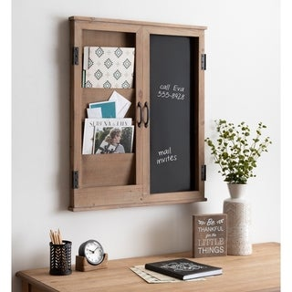 Kate and Laurel Sumpter Brown/ White Wood Framed Wall Organizer