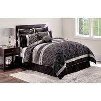 Midnight Black 8-piece Comforter Set