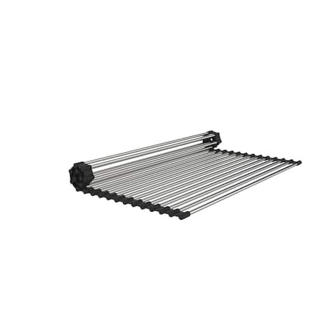 """15"""" x 17"""" Stainless Steel Roll Up Sink Grid - N/A"""
