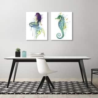 Sam Nagel Mermaid 2 Piece Canvas Print Set