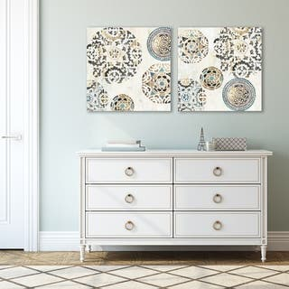 Rounded by PI Creative Art 2 Piece Canvas Print Set