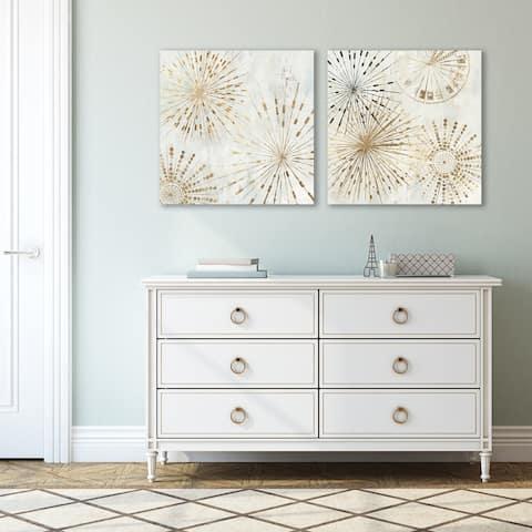 Golden Stars by PI Creative Art - 2 Piece Wrapped Canvas Art Set