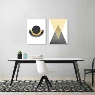 Monica Pop Geometric 2 Piece Canvas Print Set