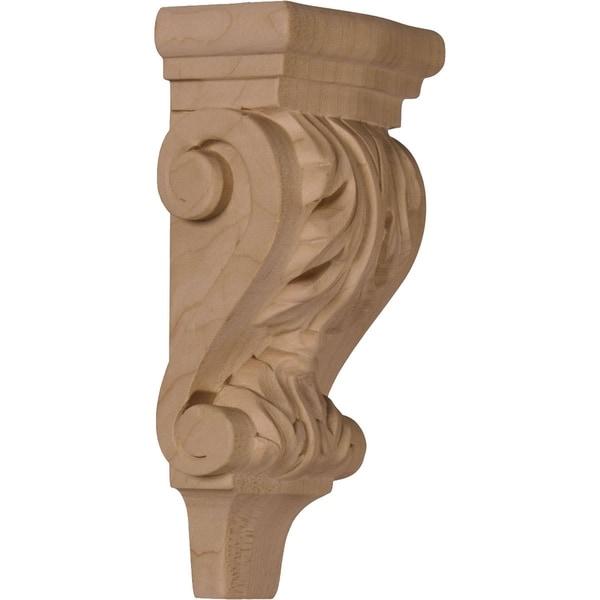 Acanthus Pilaster Wood Corbel