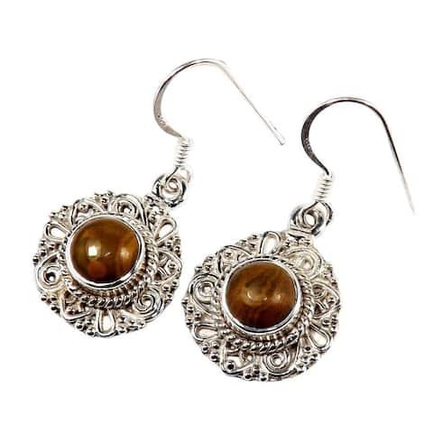 Handmade Sterling Silver Gemstone Earrings (India)