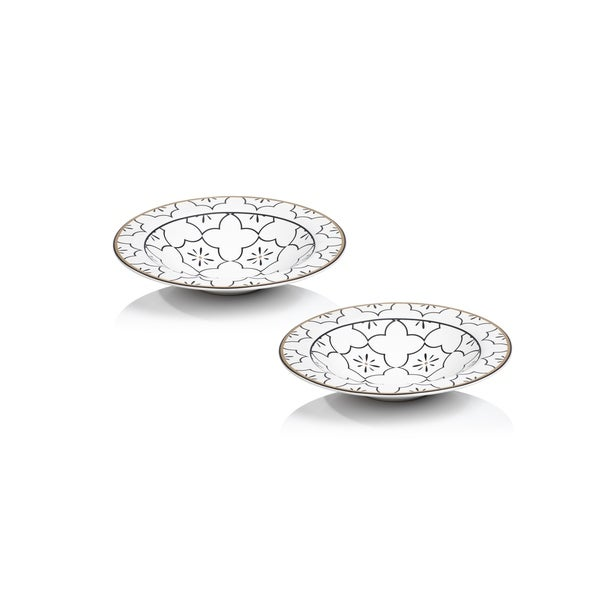 Callista 8-Inch Diameter Ceramic Bowls, Set of 2