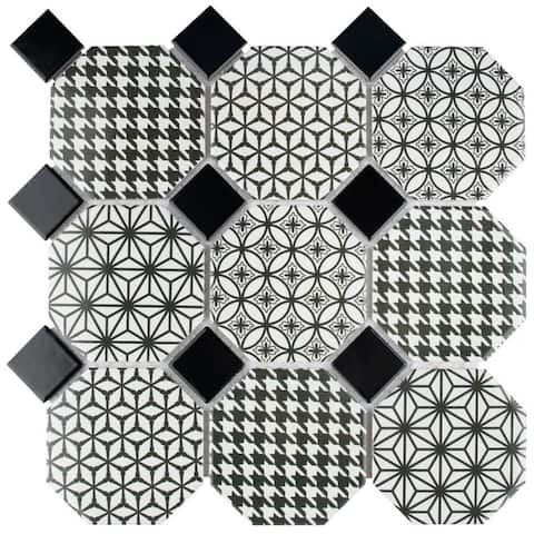 SomerTile 11.75x11.75-inch Lait Porcelain Mosaic Floor and Wall Tile (10 tiles/9.79 sqft.)