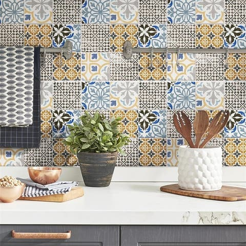 SomerTile 11.75x11.75-inch Oporto Porcelain Mosaic Floor and Wall Tile (10 tiles/9.79 sqft.)