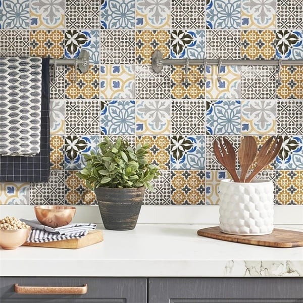 SomerTile 11.75x11.75-inch Oporto Porcelain Mosaic Floor and Wall Tile (10 tiles/9.79 sqft.). Opens flyout.