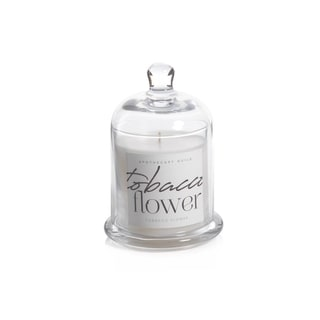 Tobacco Flower Scented Candle Jar with Glass Dome
