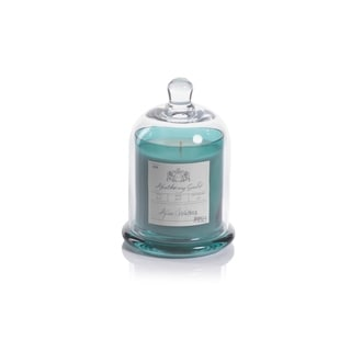 Aqua Waters Scented Candle Jar with Glass Dome, Medium