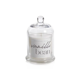 Vanilla Bean Scented Candle Jar with Glass Dome