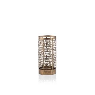 "Mondre 5"" Diameter Hurricane Metal Candle Holder"