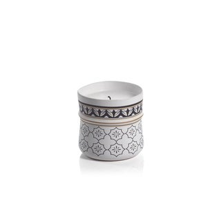 Napia Ceramic Candle Jar, White Rose