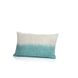 Naxos Tie Dye Blue Ombre Cotton Throw Pillow