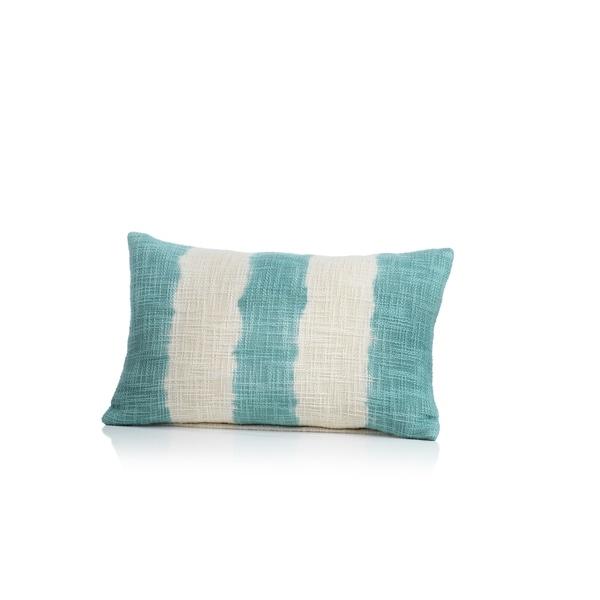 Naxos Tie Dye Blue Stripe Cotton Throw Pillow