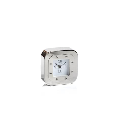 Mark Lane Silver Table Clock