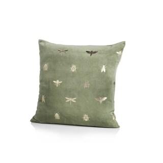 Mantis Cotton Throw Pillow