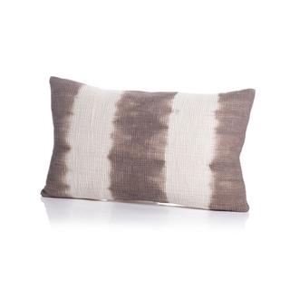 Naxos Tie Dye Gray Stripe Cotton Throw Pillow