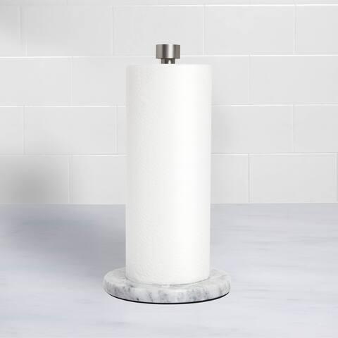 Marla Paper Towel Holder White/Nickel