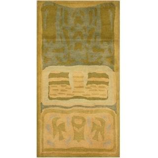 Handmade Tibetan Wool Rug (India) - 2' x 4'