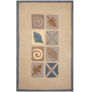 Handmade Tibetan Wool Rug (India) - 2'6 x 4'