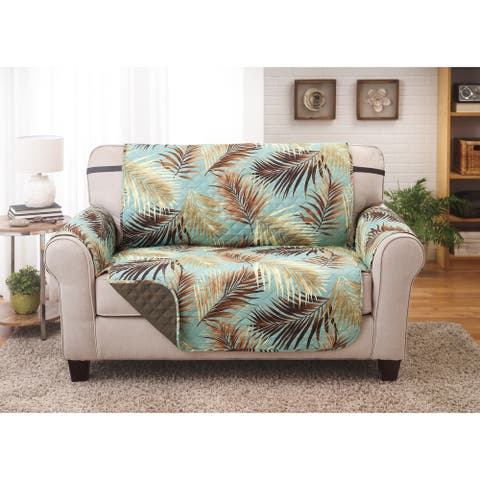 Reversible Love Seat Furniture Protector Palms