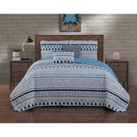 Porch & Den Hyland 5-piece Reversible Quilt Set with Throw Pillows