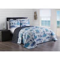Stone Harbor 3pc Reversible Quilt Set
