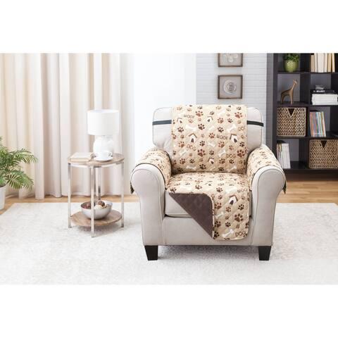 Reversible Chair Furniture Protector Woof Pet Print
