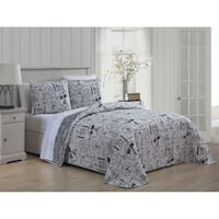 En Vie Paris 3pc Reversible Quilt Set