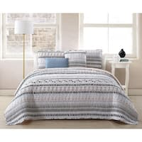 Porch & Den Ide Reversible Quilt Set with Throw Pillows
