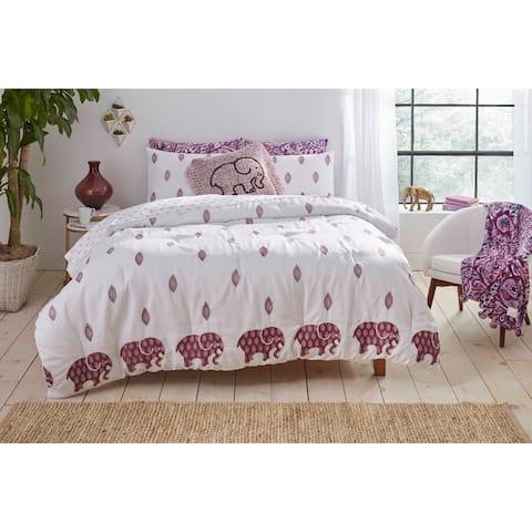 Ivory Ella Lauren Purple Comforter Set