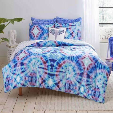 Ivory Ella Izzie Blue Comforter Set