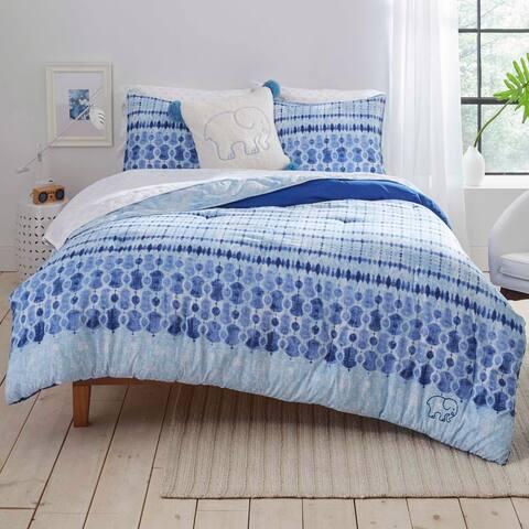 Ivory Ella Sadie Navy Comforter Set