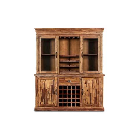 Carbon Loft Rigg Vintage Distressed Wine Cabinet Set