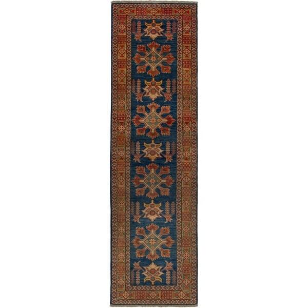 eCarpetGallery Hand-knotted Finest Gazni Dark Navy Wool Rug - 2'6 x 9'2