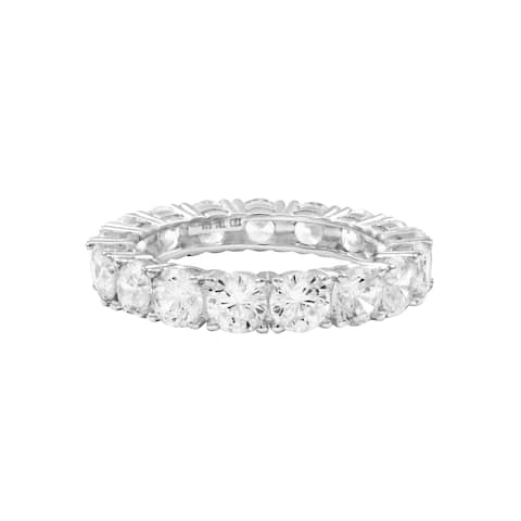 Sterling Silver White Cubic Zirconia Eternity Band