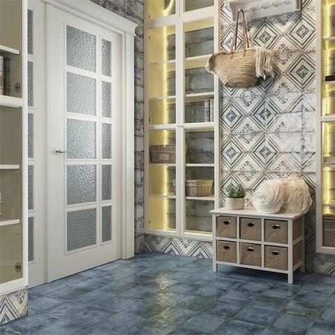 SomerTile 5.875x11.875-inch Gala Apollini Ceramic Wall Tile