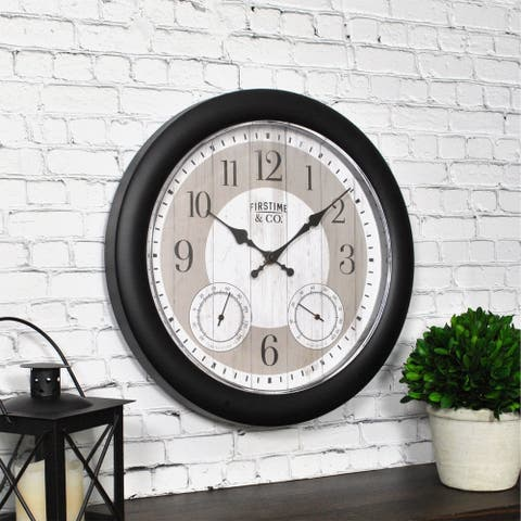 FirsTime & Co.® Summer Cottage Outdoor Clock - 12""