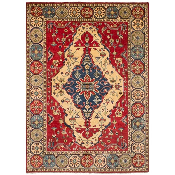 eCarpetGallery Hand-knotted Finest Gazni Red Wool Rug - 8'8 x 12'7