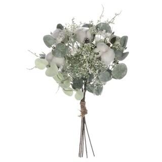 """Cotton & Eucalyptus Bundle - White - 12""""L x 12""""W x 13""""H"""