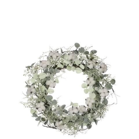 Cotton & Eucalyptus Wreath